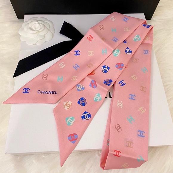 NWT Chanel Slim Bandeau Silk Twill 21P, Pink